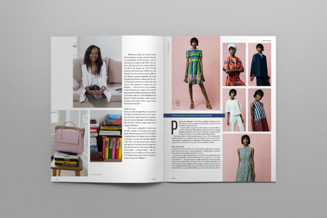 A career interview, a fashion article