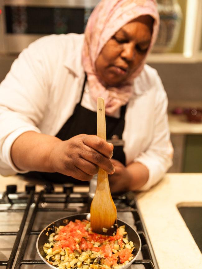 La Maison Arabe, the cooking workshop.