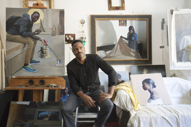 L'artiste Jas Knight dans son studio de Williamsburg